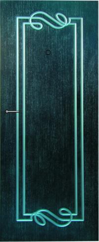 Панель фрезерованная ламинированная 16 предназначена для установки в металлические двери