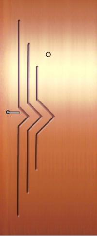 Панель фрезерованная ламинированная 26 предназначена для установки в металлические двери