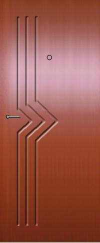 Панель фрезерованная ламинированная 33 предназначена для установки в металлические двери