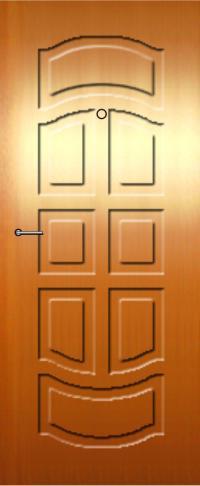 Панель фрезерованная ламинированная 48 предназначена для установки в металлические двери