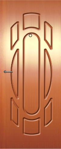 Панель фрезерованная ламинированная 49 предназначена для установки в металлические двери