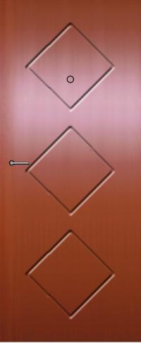 Панель фрезерованная ламинированная 68 предназначена для установки в металлические двери