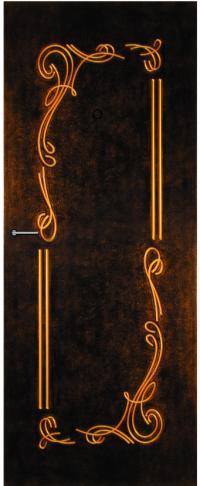 Панель фрезерованная ламинированная Фрейлина предназначена для установки в металлические двери