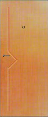 Панель фрезерованная ламинированная Эстет предназначена для установки в металлические двери