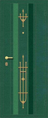 Декоративная отделка металлом ФЛИ 77 предназначена для установки в металлические двери