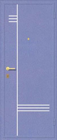 Декоративная отделка металлом ФЛИ 105 предназначена для установки в металлические двери