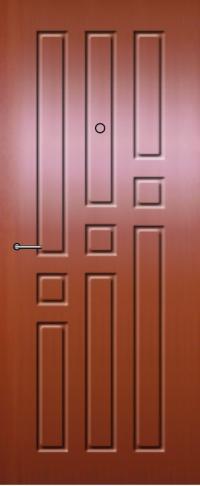 Панель из натурального шпона 21 предназначена для установки в стальные двери