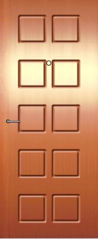 Панель из натурального шпона 25 предназначена для установки в стальные двери