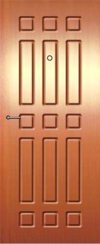 Панель из натурального шпона 36 предназначена для установки в стальные двери