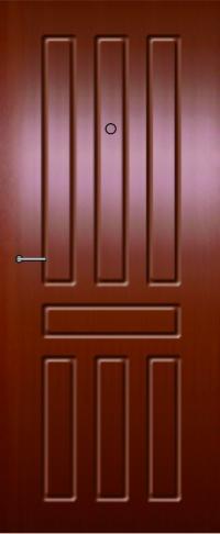 Панель из натурального шпона 53 предназначена для установки в стальные двери