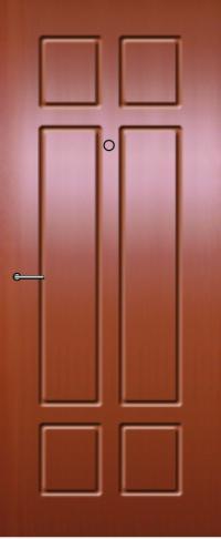 Панель из натурального шпона 55 предназначена для установки в стальные двери