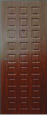 Панель из натурального шпона Экспромт предназначена для установки в стальные двери