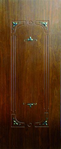 Панель с кованными элементами Акант предназначена для установки в двери металлические