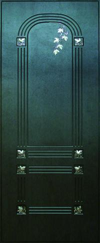 Панель с кованными элементами Флора предназначена для установки в двери металлические