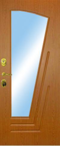 Панель с зеркалом Парус предназначена для установки в железные двери
