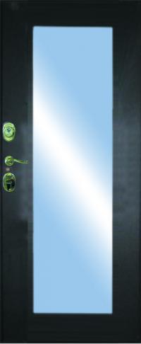 Панель с зеркалом Пастораль предназначена для установки в железные двери