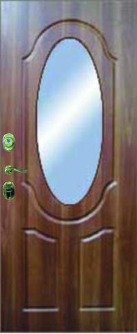 Панель с зеркалом Эллипс предназначена для установки в железные двери