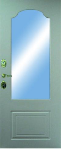 Панель с зеркалом Этна предназначена для установки в железные двери