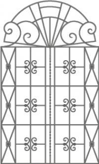 кованые решетки-5