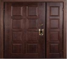 Металлические двустворчатые двери