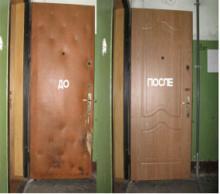 Перетяжка дверей